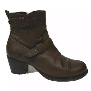 Rag & bone Brown leather ankle booties straps